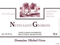 Domaine Michel Gros Nuits St. Georges 2013 750ml