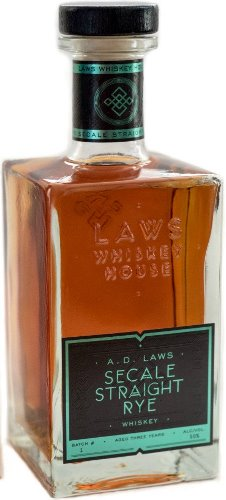 A.D. Laws Rye Whiskey Secale  750ml